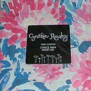 CYNTHIA ROWLEY FLORAL 2 PC. TWIN DUVET COVER SHAM